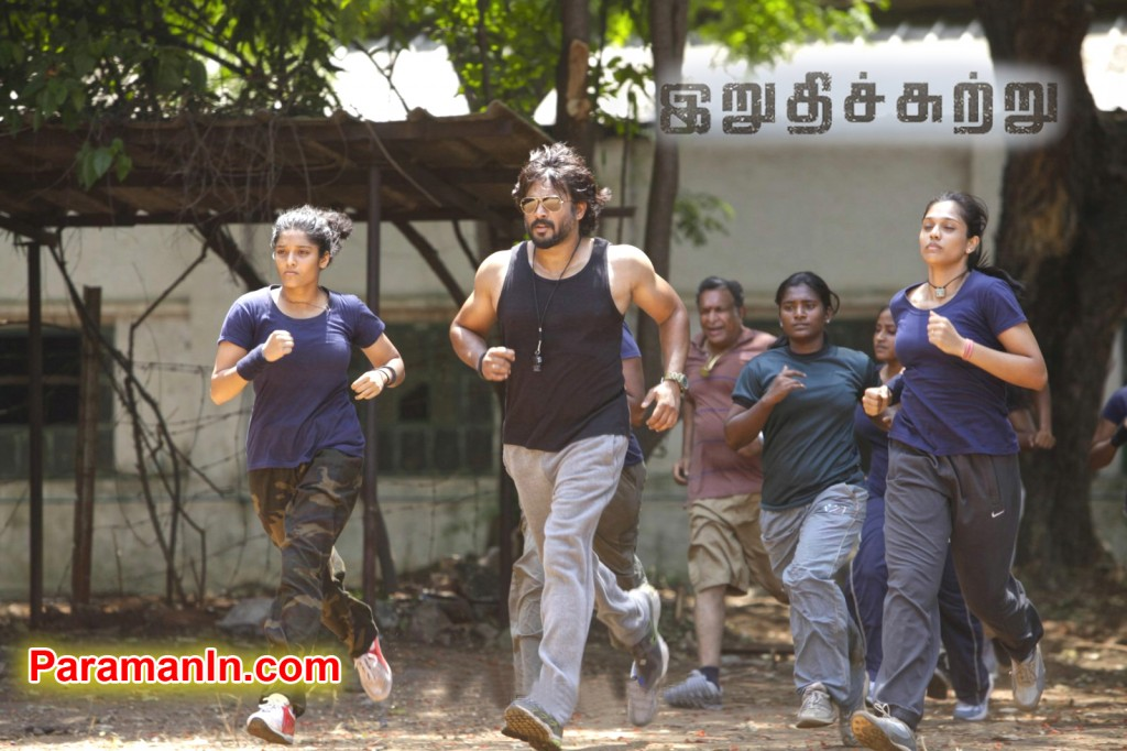 Ritika Singh, Madhavan in Irudhi Suttru Tamil Movie Stills